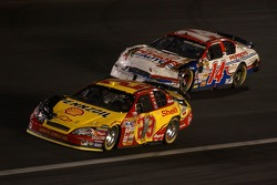 Kevin Harvick (29) and Sterling Marling (14) were among the battle-scared at the finish