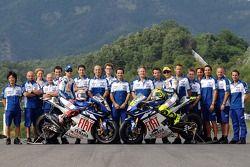 Fiat Yamaha Team photoshoot