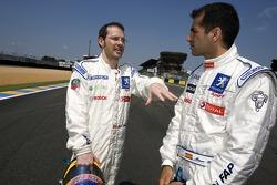 Jacques Villeneuve et Marc Gene
