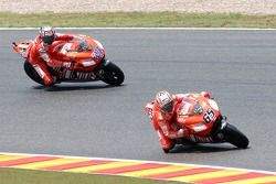 Casey Stoner and Loris Capirossi