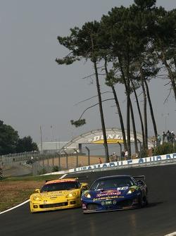 #78 AF Corse Ferrari 430 GT Berlinetta: Joe Macari, Ben Aucott, Adrian Newey, #63 Corvette Racing Corvette C6.R: Johnny O'Connell, Jan Magnussen, Ron Fellows