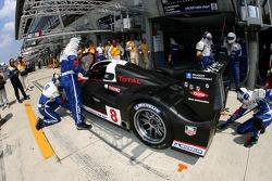 # 8 Team Peugeot Total Peugeot 908: Pedro Lamy, Stéphane Sarrazin, Sébastien Bourdais de retour dans le garage