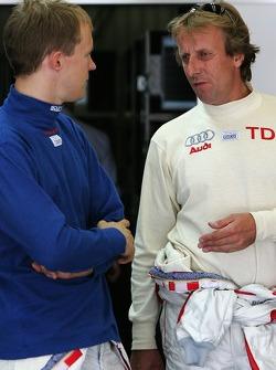 Mattias Ekström et Frank Biela