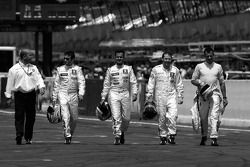 Nicolas Minassian, Pedro Lamy, Jacques Villeneuve et Stéphane Sarrazin