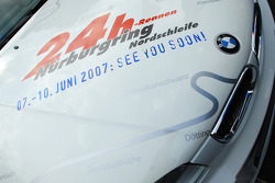 A BMW with 24 Hours of Nurburgring stickers