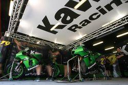 Kawasaki Racing Team pit box