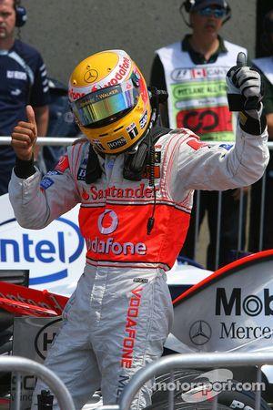 Lewis Hamilton, McLaren Mercedes ganador de la pole position