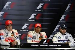 Fernando Alonso, McLaren Mercedes, Lewis Hamilton, McLaren Mercedes, Nick Heidfeld, BMW Sauber F1 Te
