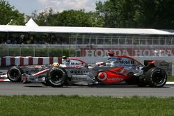 Lewis Hamilton, McLaren Mercedes, Fernando Alonso, McLaren Mercedes en la arrancada