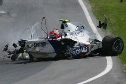 Crash von Robert Kubica, BMW Sauber F1 Team