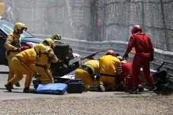 Schwerer Unfall von Robert Kubica, BMW Sauber F1 Team, F1.07