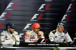 Nick Heidfeld, BMW Sauber F1 Team, Lewis Hamilton, McLaren Mercedes, Alexander Wurz, Williams F1 Tea