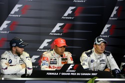 Nick Heidfeld, BMW Sauber F1 Team, Lewis Hamilton, McLaren Mercedes, Alexander Wurz, Williams F1 Team