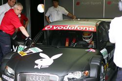 Tom Kristensen tests an Audi A4 to determine if he is fit to race