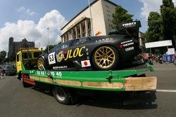 JLOC ISAO Noritake Lamborghini Murcielago se dirigeant vers le circuit