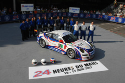 #93 Autorlando Sport Porsche 997 GT3-RSR: Lars-Erik Nielsen, Allan Simonsen, Pierre Ehret