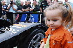Une jeune fan avec la Racing de Hollande Dome