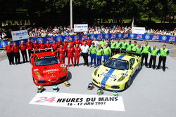 #97 Risi Competizione Ferrari 430 GT Berlinetta: Mika Salo, Jaime Melo, Johnny Mowlem, #99 Risi Competizione Ferrari 430 GT Berlinetta: Tracy Krohn, Nic Jonsson, Colin Braun