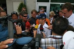 media interview Sebastian Vettel, Test Pilotu, BMW Sauber F1 Team who will be replacing Robert Kubic