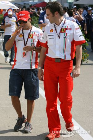 Felipe Massa, Scuderia Ferrari and Stefano Domenicali, Scuderia Ferrari, Sporting Director