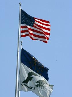 Флаги США и Ф1