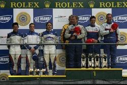 LMP2 podium: class winners William Binnie, Allen Timpany, Chris Buncombe, second place Adrian Fernandez, Haruki Kurosawa, Robbie Kerr