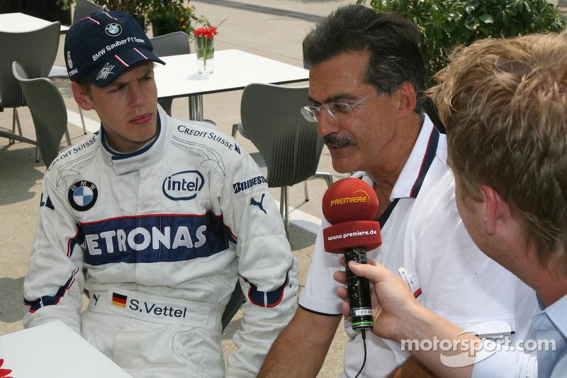 Себастьян Феттель, тест-пілот, BMW Sauber F1 Team та д-р Маріо Тайсен, BMW Sauber F1 Team, спортивний директор BMW
