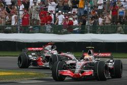 Lewis Hamilton, McLaren Mercedes, MP4-22 and Fernando Alonso, McLaren Mercedes, MP4-22