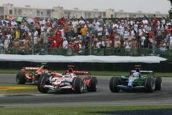 Takuma Sato, Super Aguri F1, Jenson Button, Honda Racing F1 Team, RA107, Christijan Albers, Spyker F