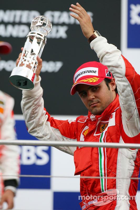 Podio: el tercer lugar Felipe Massa, Scuderia Ferrari