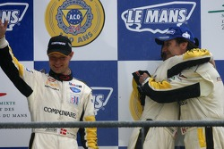 Podium GT1: seconde place Johnny O'Connell, Jan Magnussen, Ron Fellows
