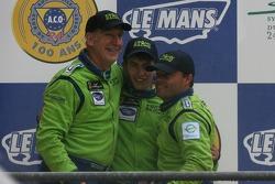 Podium GT2: seconde place Tracy Krohn, Nic Jonsson, Colin Braun