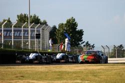 Action de la course au virage Porsche