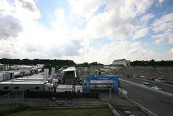 Overview of the Norisring pitlane