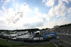 Overview of the Norisring pitlane and paddock