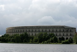 Nazi party Congress Hall and the Dutzendteich