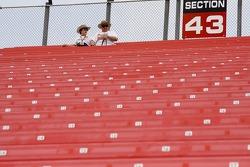 Fans take their seats