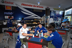 Team Gresini hospitality area