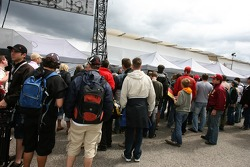 Fans wait for Team HWA AMG Mercedes drivers