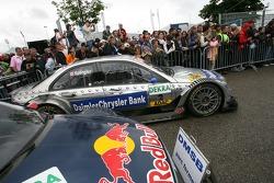 The pole winning Team HWA AMG Mercedes, AMG Mercedes C-Klasse of Bruno Spengler in Parc Fermé
