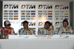 Qualifying press conference: pole winner Bruno Spengler with Timo Scheider, Bernd Schneider and Mika