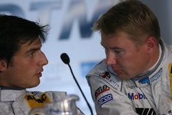 Qualifying press conference: pole winner Bruno Spengler with Mika Hakkinen