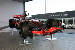 A McLaren F1 car on display
