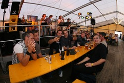 A beer hall at the Norisring
