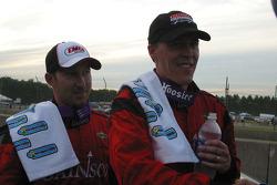 Jon Fogarty and Alex Gurney celebrate their win