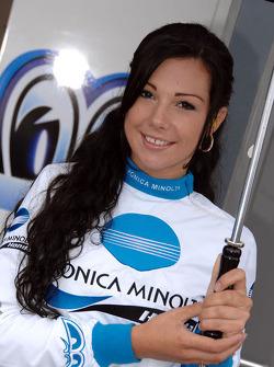 The lovely Konica Minolta girl