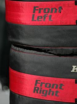 Race tires for Alexandros Margaritis