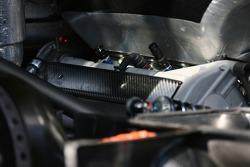 Engine detail of an AMG Mercedes C-Klasse