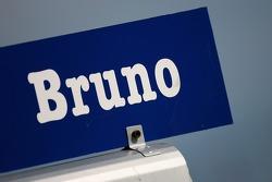 Pit sign for Bruno Spengler