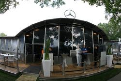 Mercedes team hospitality area
